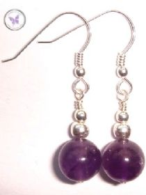 Amethyst February Birthstone Earrings